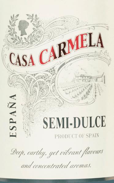 Casa Carmela Semi-Dulce Tinto DO 2019 - Bodegas Castaño von Bodegas Castaño