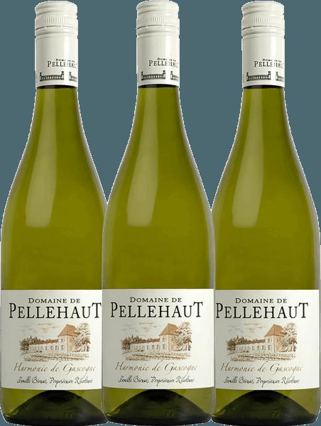 3er Vorteils-Weinpaket - Harmonie de Gascogne Blanc 2020 - Domaine de Pellehaut
