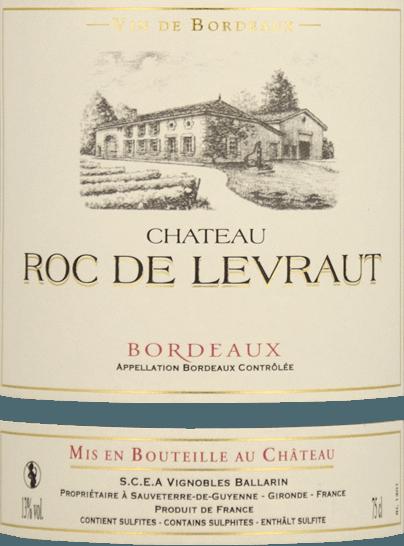 Bordeaux AOC 2019 - Château Roc de Levraut von Château Roc de Levraut
