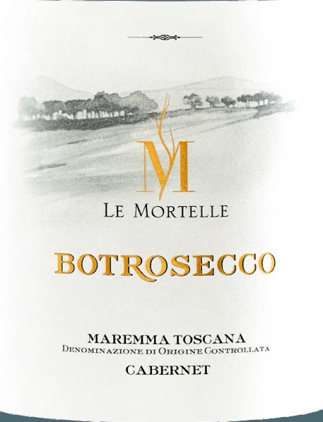 Der Botrosecco Maremma Toscana DOC von Le Mortelle leuchtet Rubinrot im Glas. An der Nase präsentiert er ein reiches und intensives Bouquet mit Aromen von dunkler Beerenkonfitüre, kandierten Kirschen und Karamell, Schokolade, sowie balsamischen Noten von Eukalyptus und Minze. Am Gaumen ist dieser italienische Rotwein kraftvoll, einnehmend, fruchtig, mit präsenten, samtigen Tanninen, körperreich, im langen Nachhall erscheinen Nuancen von Schokolade und Kirsche. Vinifikation des Botrosecco Maremma Toscana DOC von Le Mortelle Der Botrosecco ist eine Cuvée ausn Cabernet Franc 40% und Cabernet Sauvignon 60%. Nach der selektiven Lese werden die Trauven entrappt, sanft gepresst und in Edelstahltanks gefüllt, in denen bei kontrollierter Temperatur die alkoholische Gärung stattfindet, sowie die Mazeration über 15 Tage mit wiederholtem Unterheben des Schalenhutes, um nur die besten Tanninen zu gewinnen. Nach dem Abzug von den Schalen wird der Wein in Edelstahltanks umgefüllt, in denen die malolaktische Gärung bis Ende des Jahres vollständig vollzogen wird. Im Anschluß wird der Botrosecco 12 Monate in Barriques ausgebaut bevor er in Flaschen abgefüllt wird. Speiseempfehlungen für den Botrosecco Maremma Toscana DOC von Le Mortelle Genießen Sie diesen fruchtig-kraftvollen Rotwein aus dersüdlichen Toskana zu typischen geschmackvollen Gerichten der regionalen Küche, Braten, Wild, Wildschweinragout, würzigen Käsesorten. Auszeichnungen für den Botrosecco Maremma Toscana von Le Mortelle Wine Spectator: 93 Punkte für 2017 Gambero Rosso: 2 Gläser für 2015 und 2014