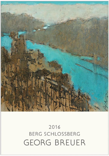 Das Etikett des Rüdesheimer Schlossberg Riesling 2016 von Georg Breuer