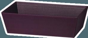 - klassischer Präsentkorb in länglicher Form- offene Welle, innen und außen viola- 33 x 19 x 11 cmWir stellen Ihnen auch gern einen Präsentkorb zusammen, mit Holzwolle gefüllt und klarer Folie schön verpackt. Fragen Sie uns, wir erstellen Ihnen gern ein Angebot.
