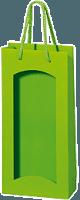 1er Papiertüte hellgrün mit Folienfenster